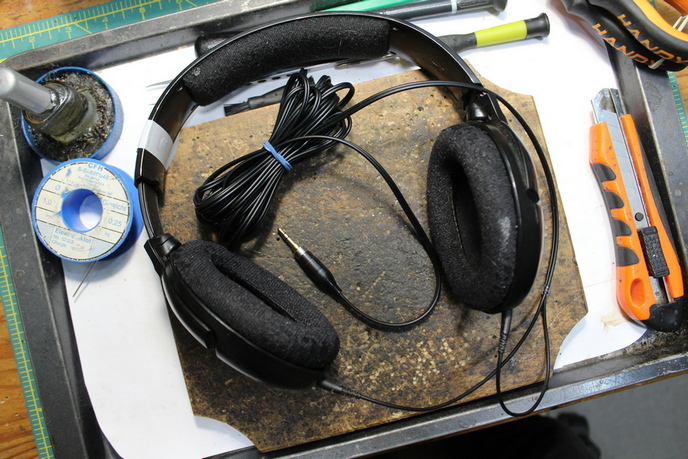 Sennheisner HD 201 fejhallgató javítás után